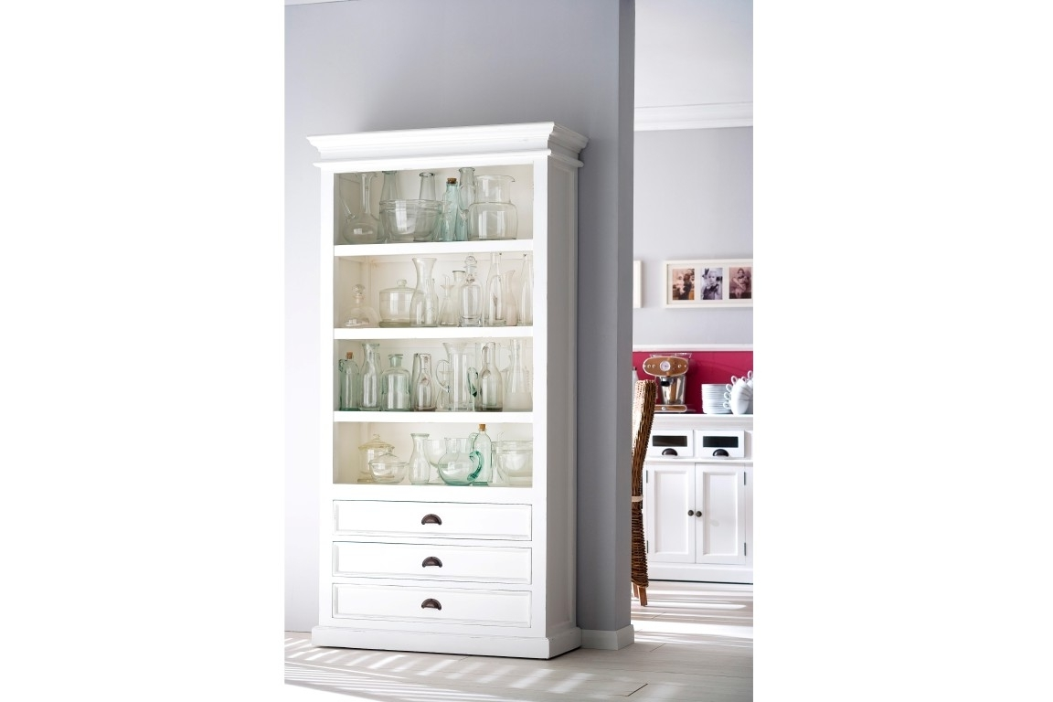 White Wood Bookcases With Widely Used Bookcases Ideas: Affordable White Solid Wood Bookcase White Wooden (View 14 of 15)
