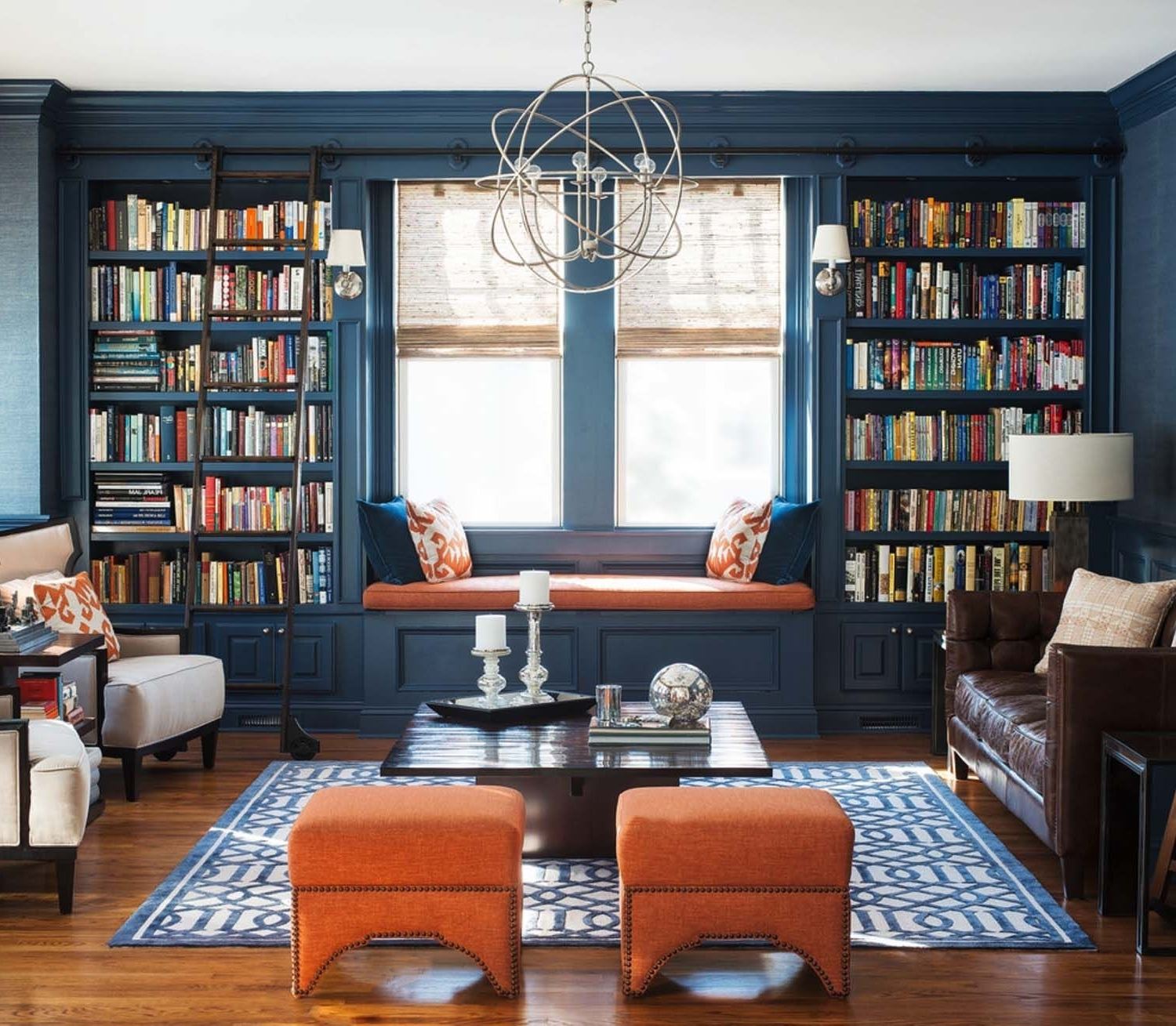 Whole Wall Bookshelves With Popular 36 Fabulous Home Libraries Showcasing Window Seats (View 15 of 15)
