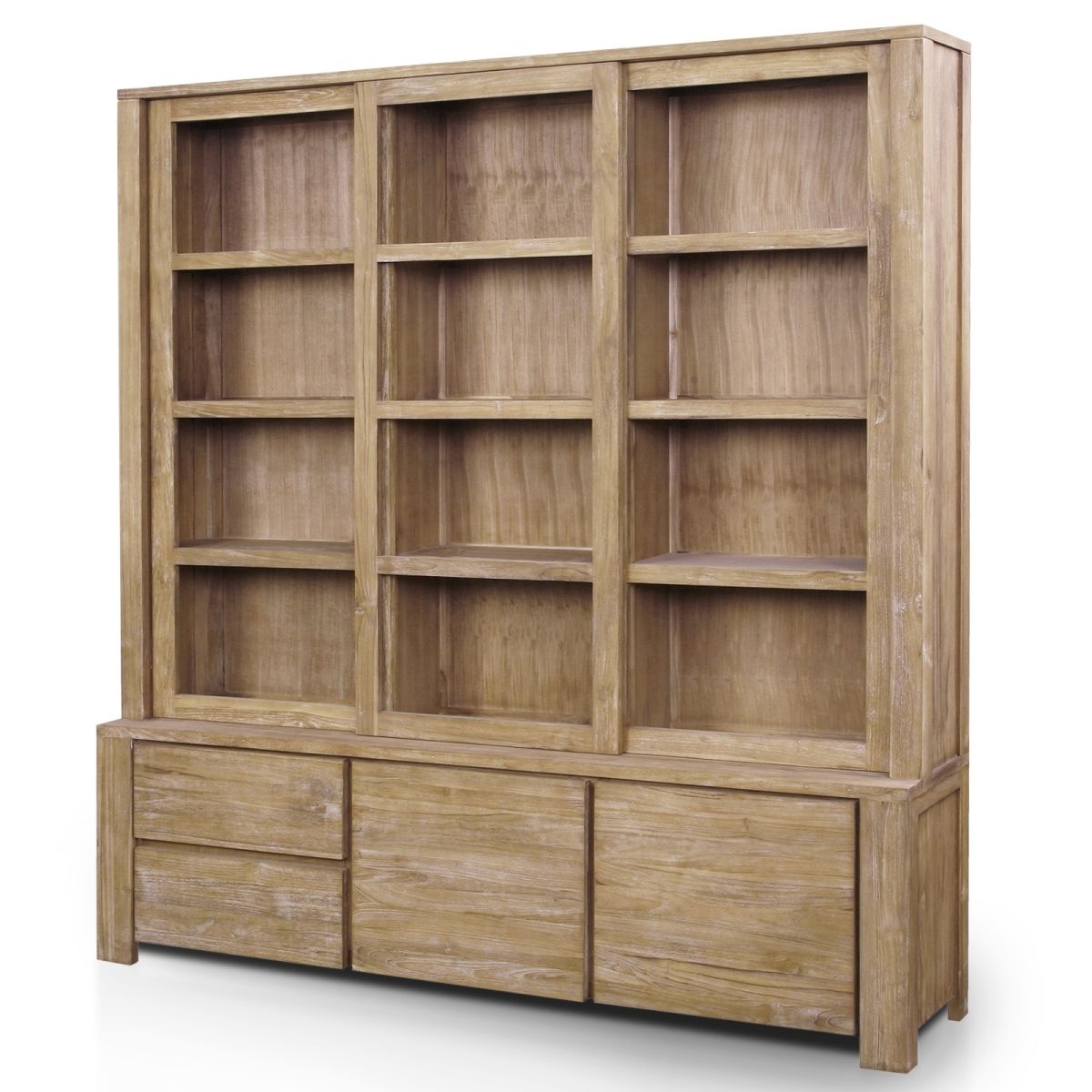 Widely Used Best Bookcase With Doors Large Wood Bookcase With Doors 6 Glass Pertaining To Large Solid Wood Bookcases (View 15 of 15)
