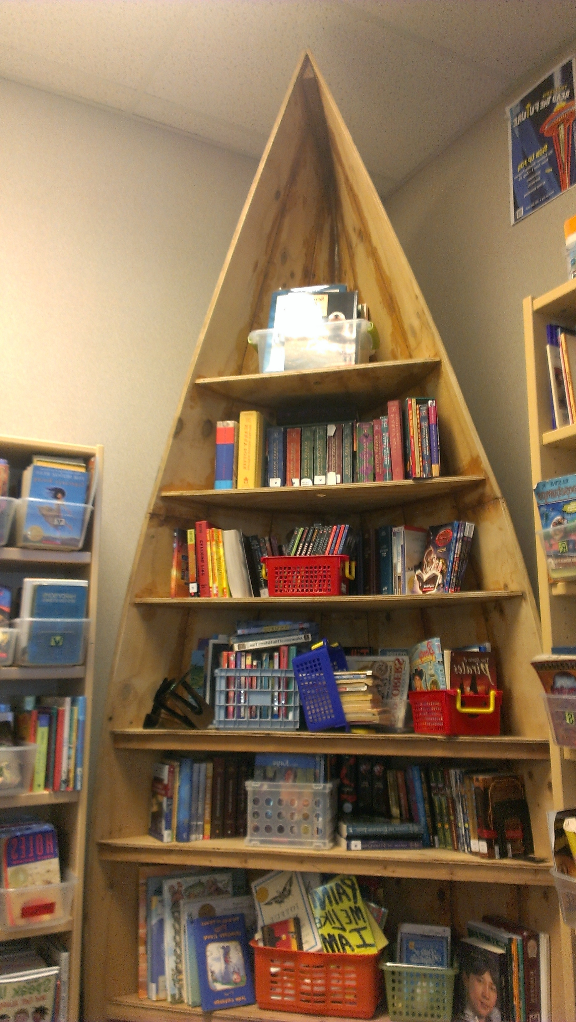 Widely Used Boat Shaped Bookcases In Diy Boat Bookshelf In A Classroom At Pathfinder K 8, A Seattle (View 12 of 15)