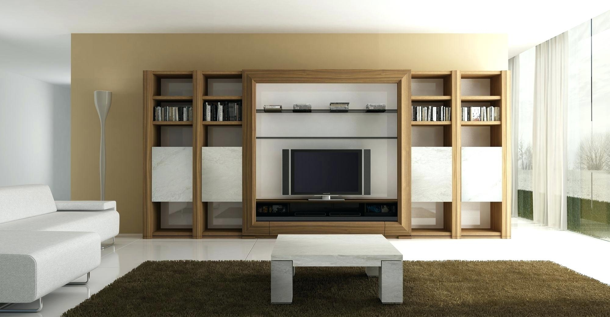 Widely Used Book Cabinet Design Inside Decoration: Wall Units Furniture Living Room (View 12 of 15)