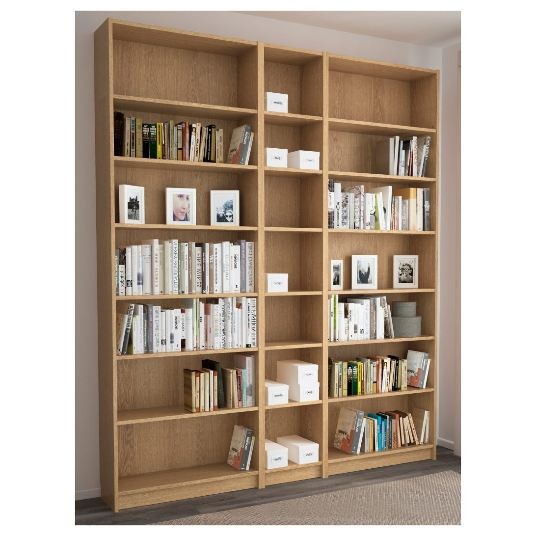 Widely Used Bookcase Oak Billy 200X237X28 Cm Ikea 0451891 Pe600821 S5 Singular Pertaining To Ikea Corner Bookcases (View 15 of 15)
