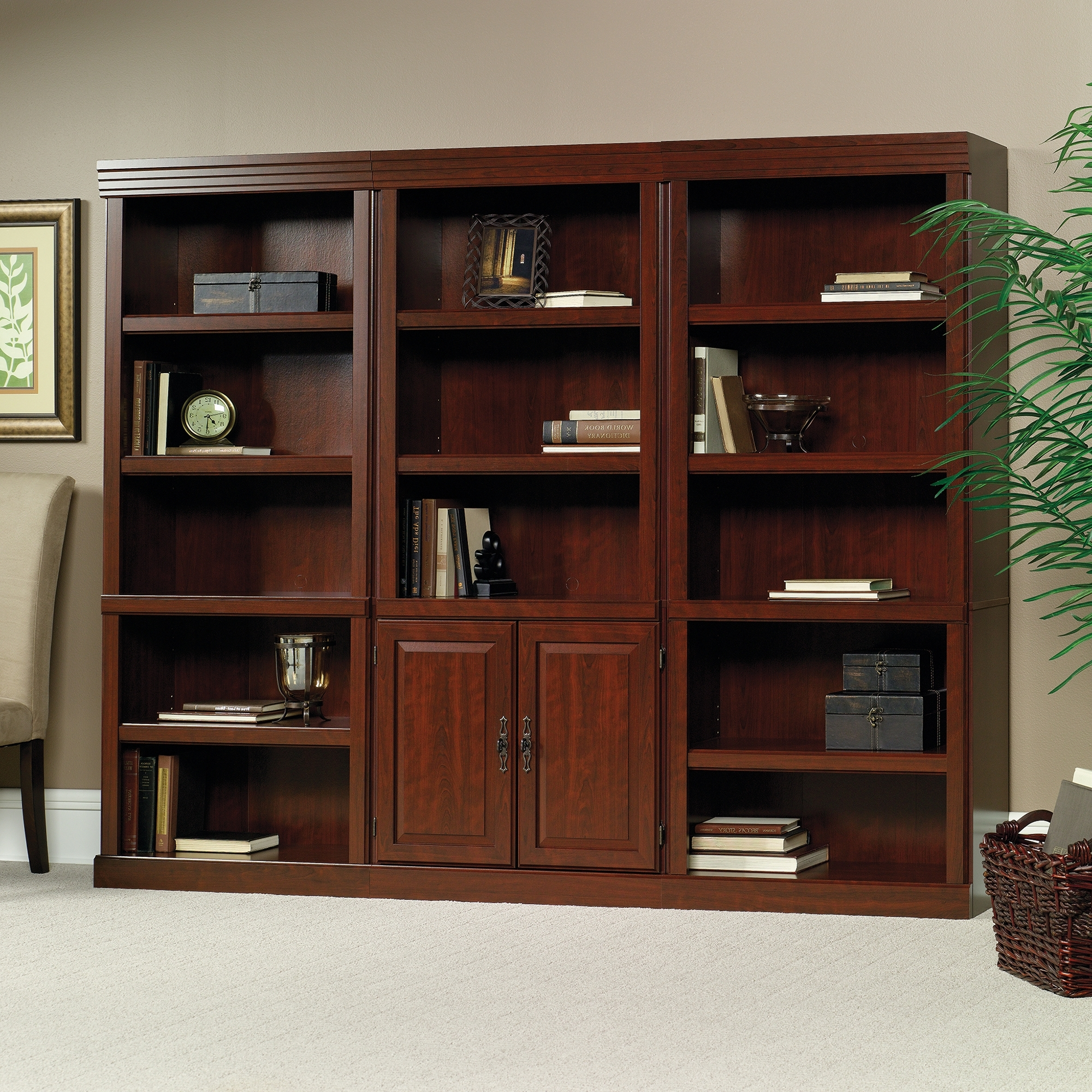 Widely Used Bookcases Ideas: Bookcase With Classic Cherry Finish Sauder Sauder With Regard To Classic Bookcases (View 15 of 15)