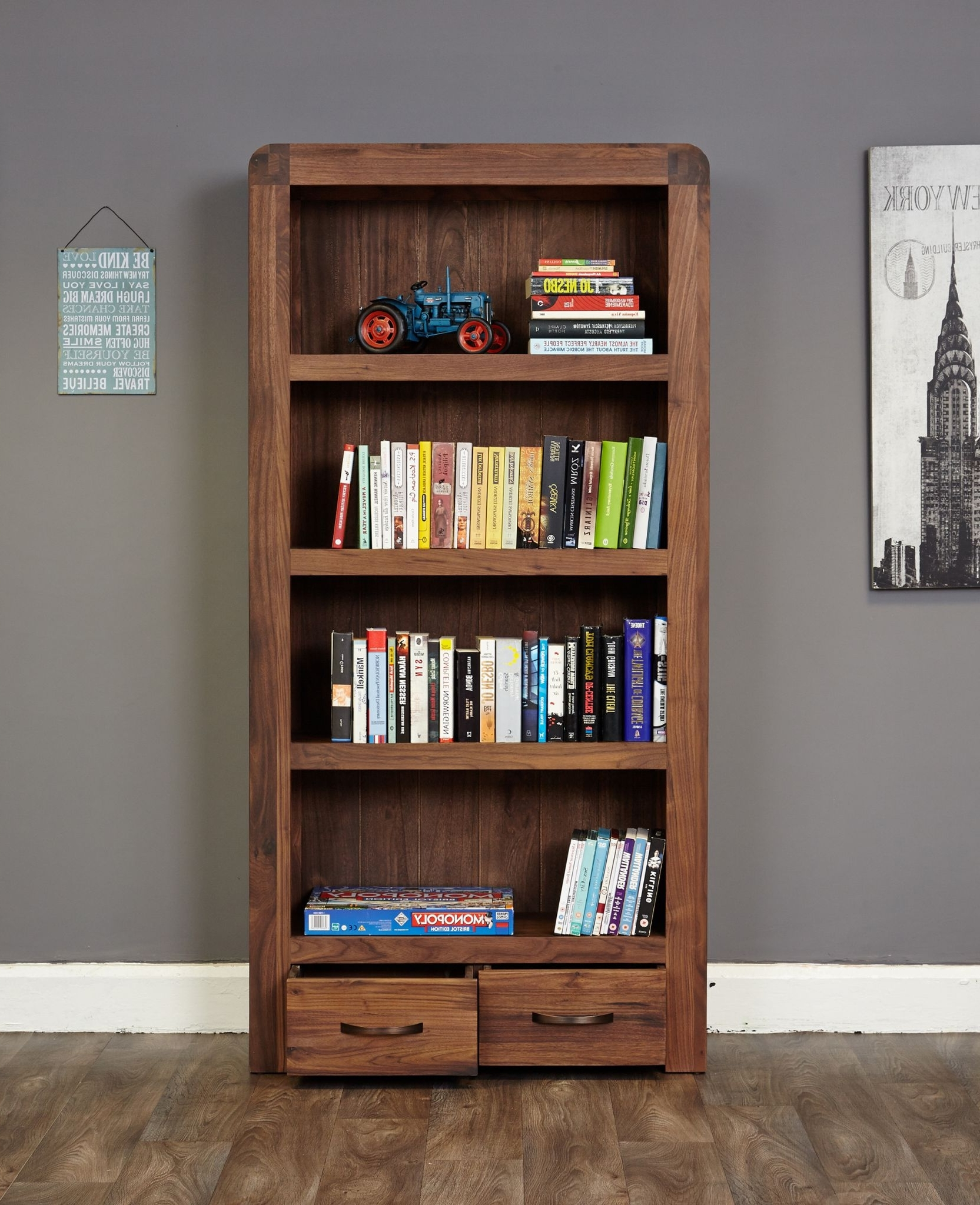 Widely Used Bookcases & Shelves Online From Big Blu Furniture Regarding Walnut Bookcases (View 14 of 15)