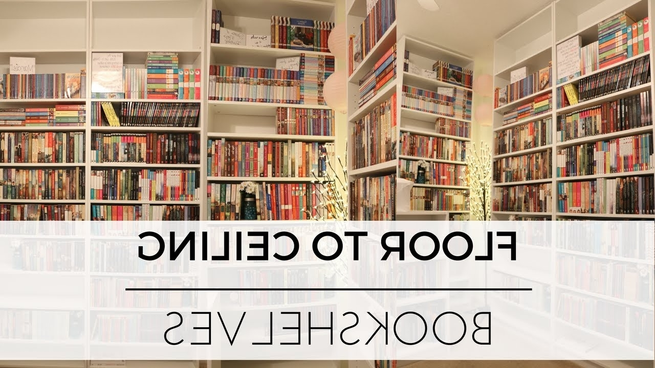 Widely Used Building Floor To Ceiling Bookshelves + Organizing Books – Youtube Intended For Floor To Ceiling Bookcases (View 15 of 15)