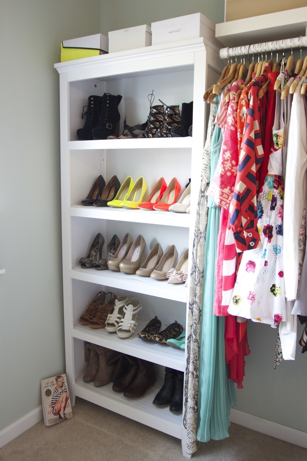 Widely Used Carson 5 Shelf Bookcases With Regard To Welcome To The Closet — In Jen's Life (View 11 of 15)
