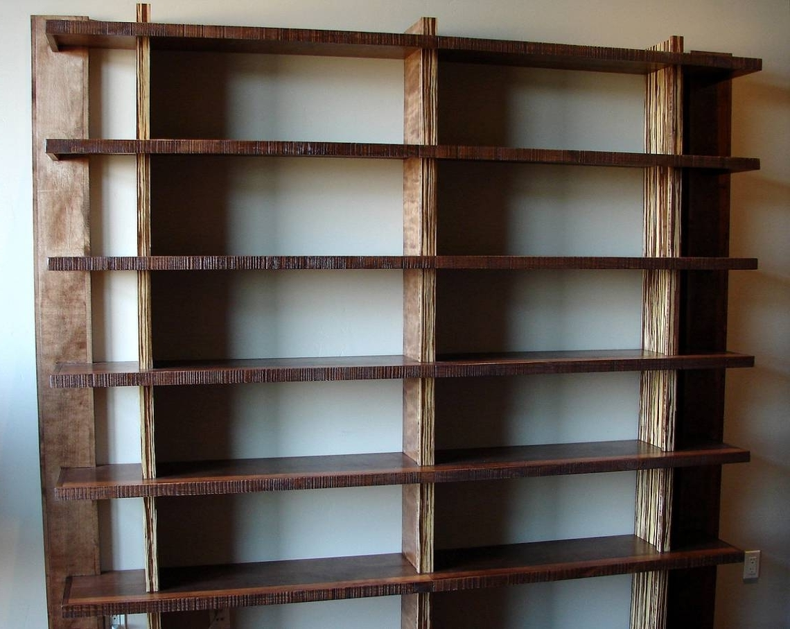 Widely Used Custom Wood Bookshelves 16 Best Ideas Of Bookcases 14 Bookcase Within Industrial Bookcases (View 15 of 15)