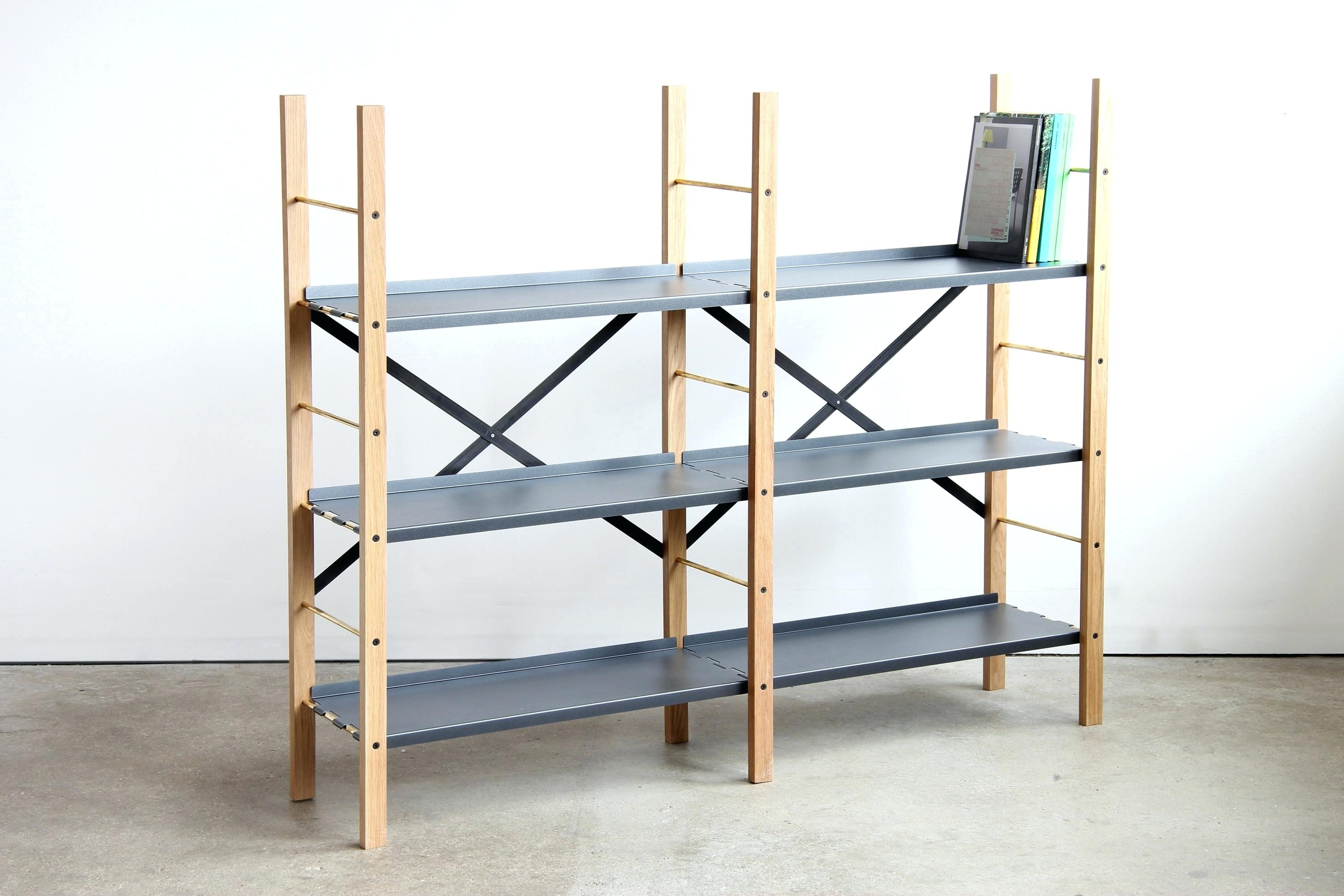 Widely Used Free Standing Shelving Units Wood Intended For Decoration: Wood Freestanding Shelving Unit (View 15 of 15)