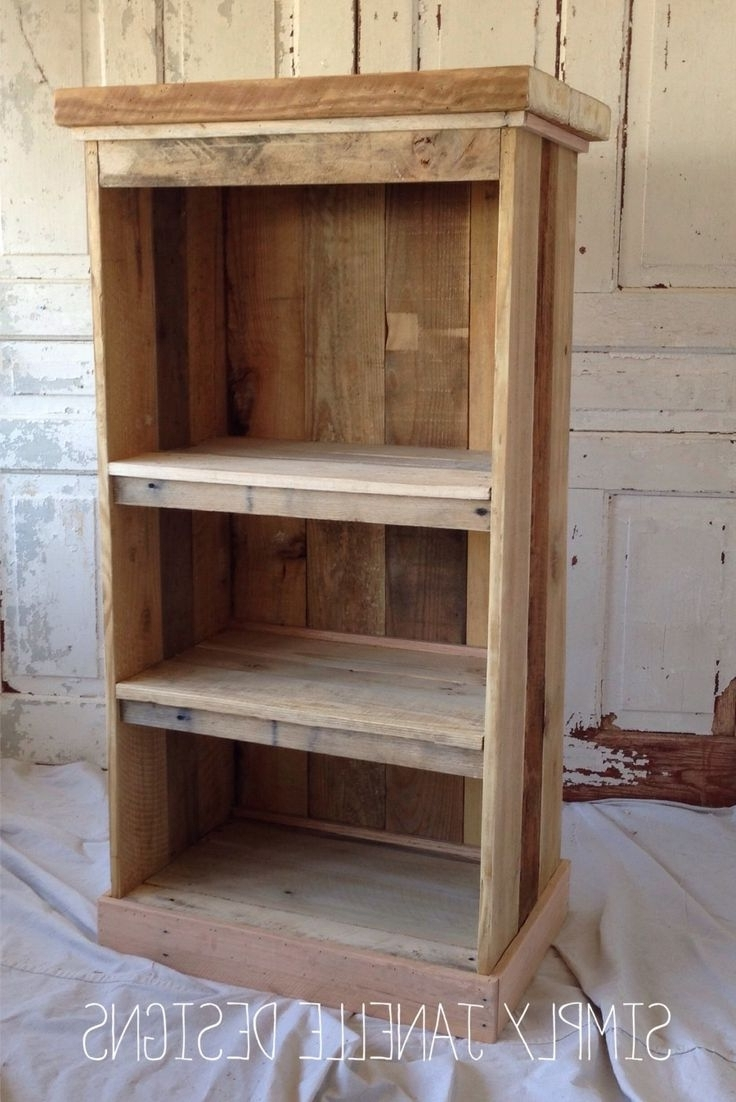 Widely Used Interior And Exterior : Bathroom Shaving Shelf From Pallet Wood In Pallet Bookcases (View 10 of 15)