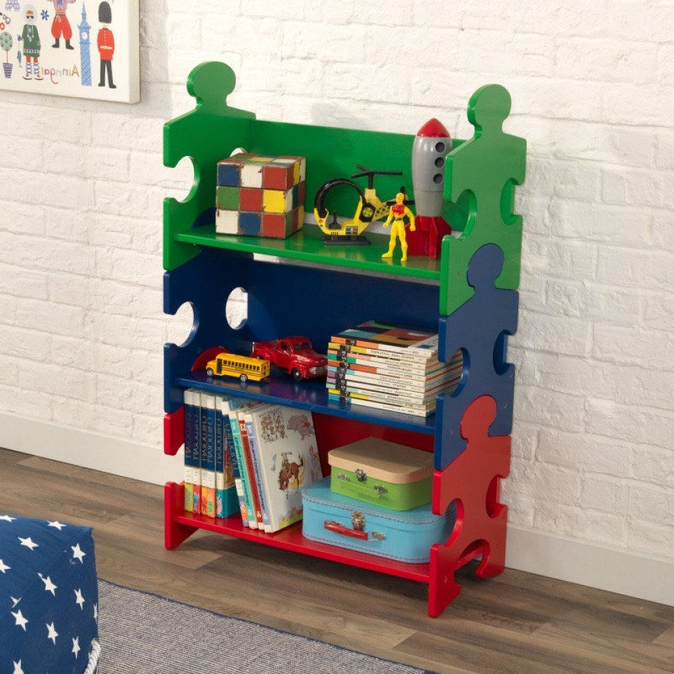 Widely Used Kidkraft Bookcases Intended For Puzzle Bookshelf – Primary (View 15 of 15)