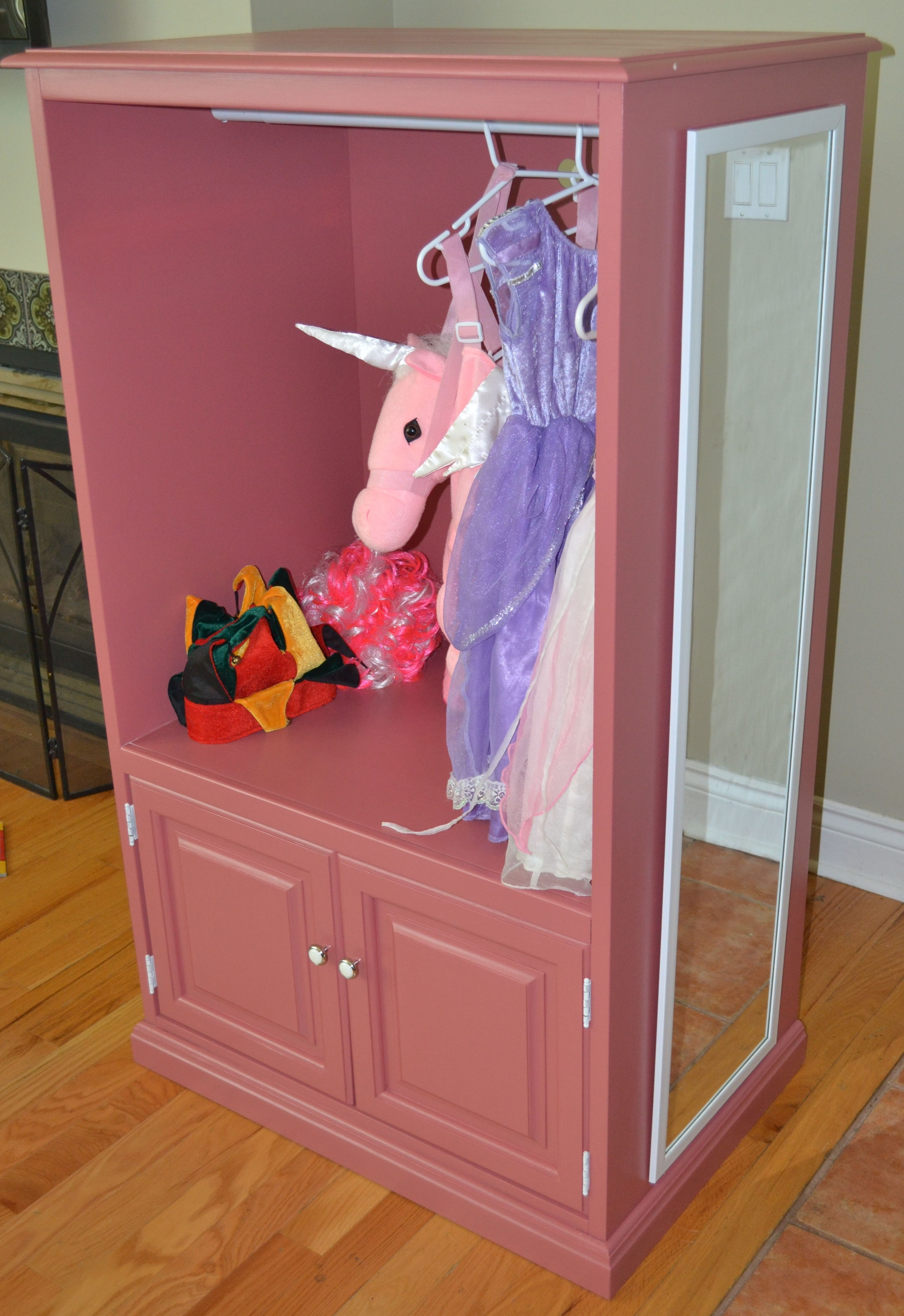 Widely Used Kids Dress Up Wardrobes Closet With Saw This On Hgtv And Loved It! Cute Wardrobe For A Little Girls (View 15 of 15)