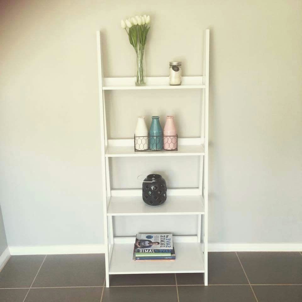 Widely Used Kmart Bookcases Pertaining To Ladder Shelf: Something Different To Add To The Bedroom (View 11 of 15)