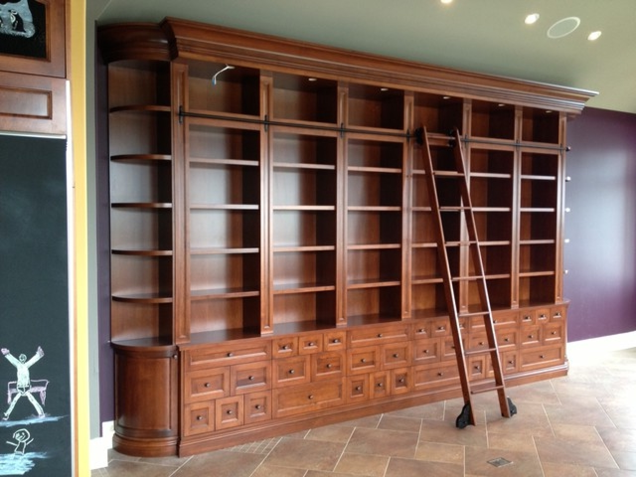 Widely Used Large Bookcases Throughout Large Bookcase With Ladder Rolling Dfcafabb – Tikspor (View 6 of 15)