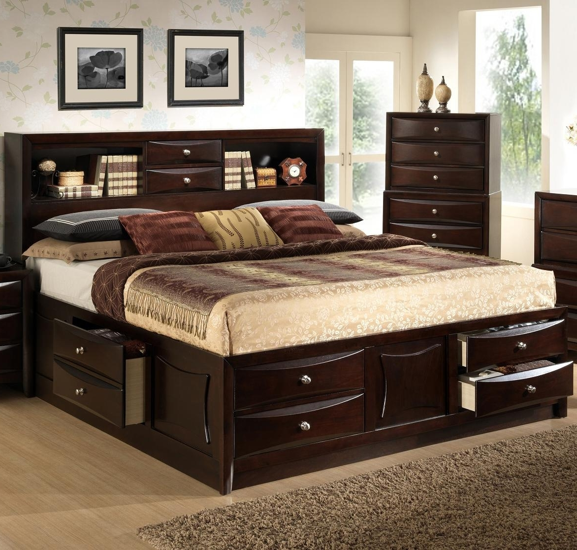 Widely Used Lifestyle Todd Queen Storage Bed W/ Bookcase Headboard (View 15 of 15)