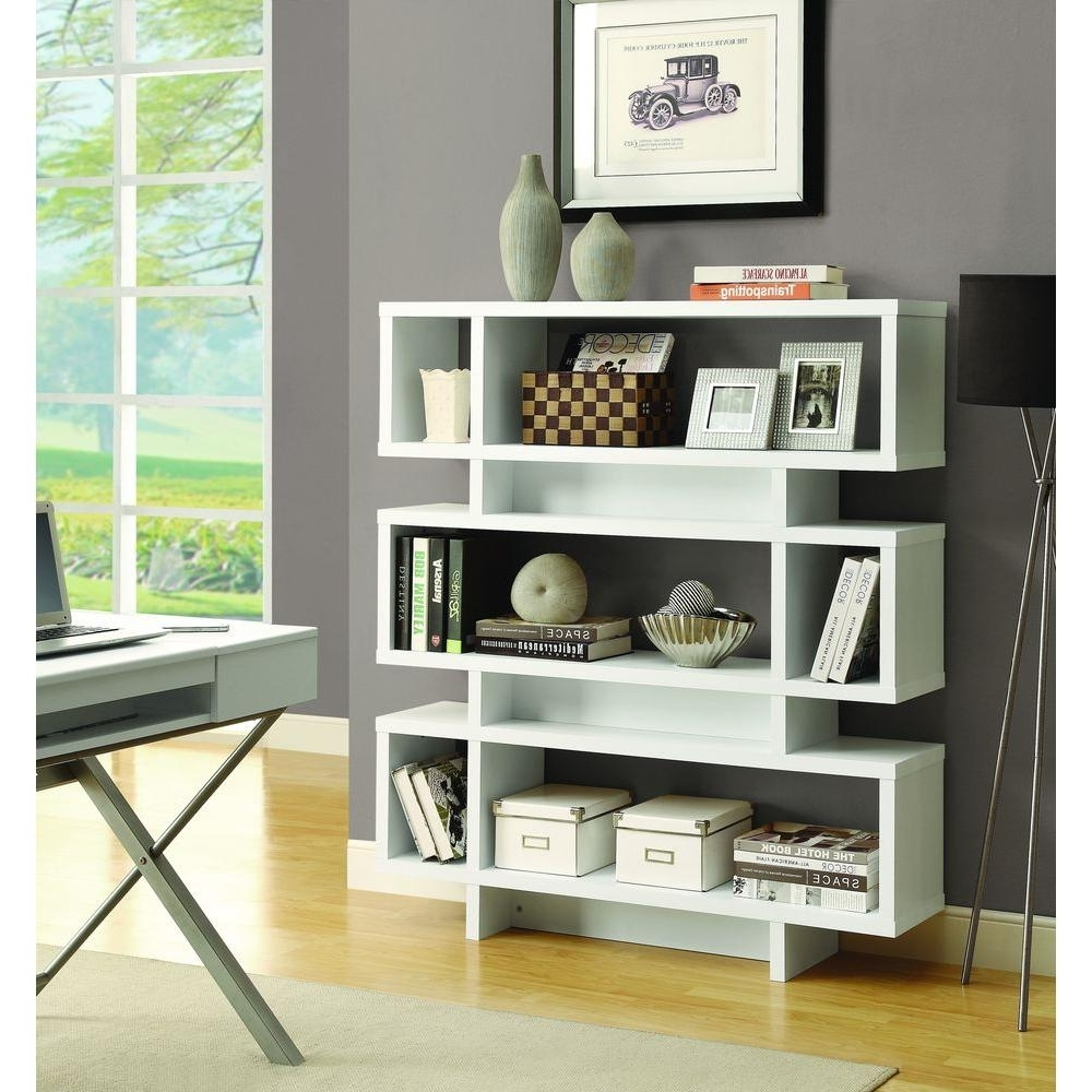 Widely Used Monarch Specialties Cappuccino Open Bookcase I 2531 – The Home Depot Within Modern Bookcases (View 13 of 15)