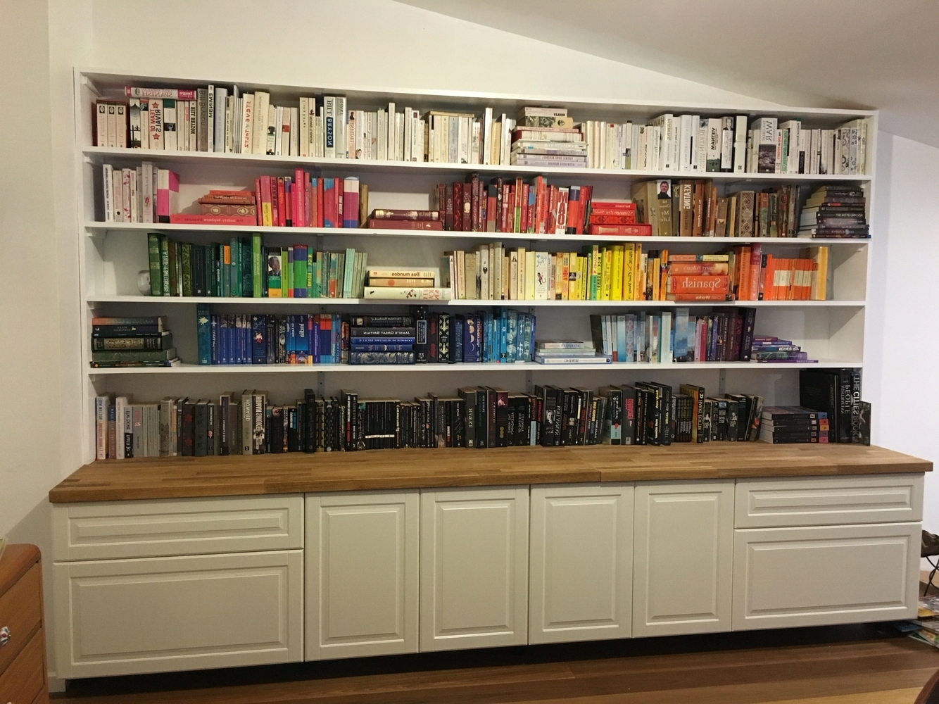 Widely Used My New Library. Made With Ikea Metod Kitchen Cupboards (View 2 of 15)