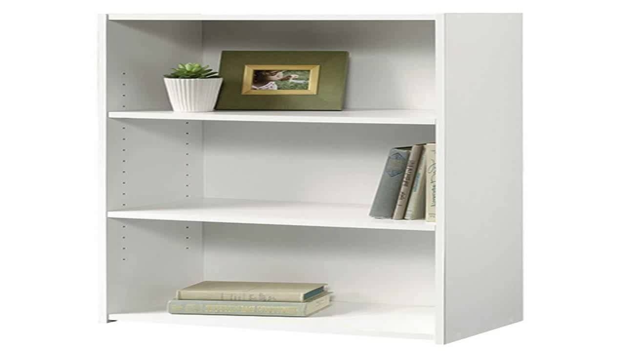 Widely Used Sauder Beginnings 3 Shelf Bookcase Soft White – Youtube Within Sauder Beginnings 3 Shelf Bookcases (View 13 of 15)