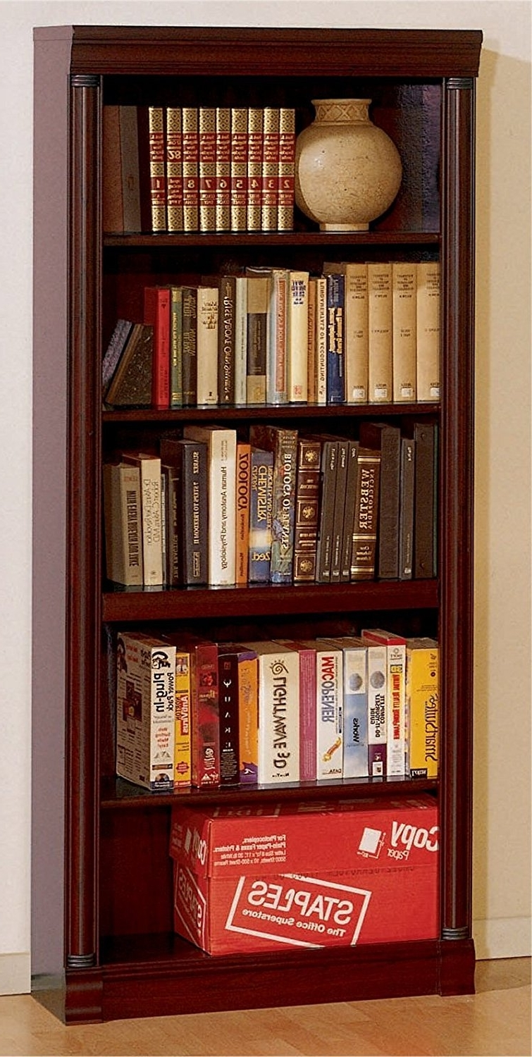 Widely Used Traditional Bookcases For Furniture Home: Unbelievable Cherry Wood Bookcase Pictures Design (View 15 of 15)