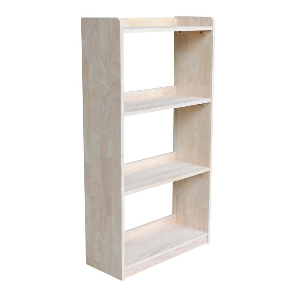 Widely Used Unfinished Bookcases In International Concepts Abby 50 In (View 7 of 15)