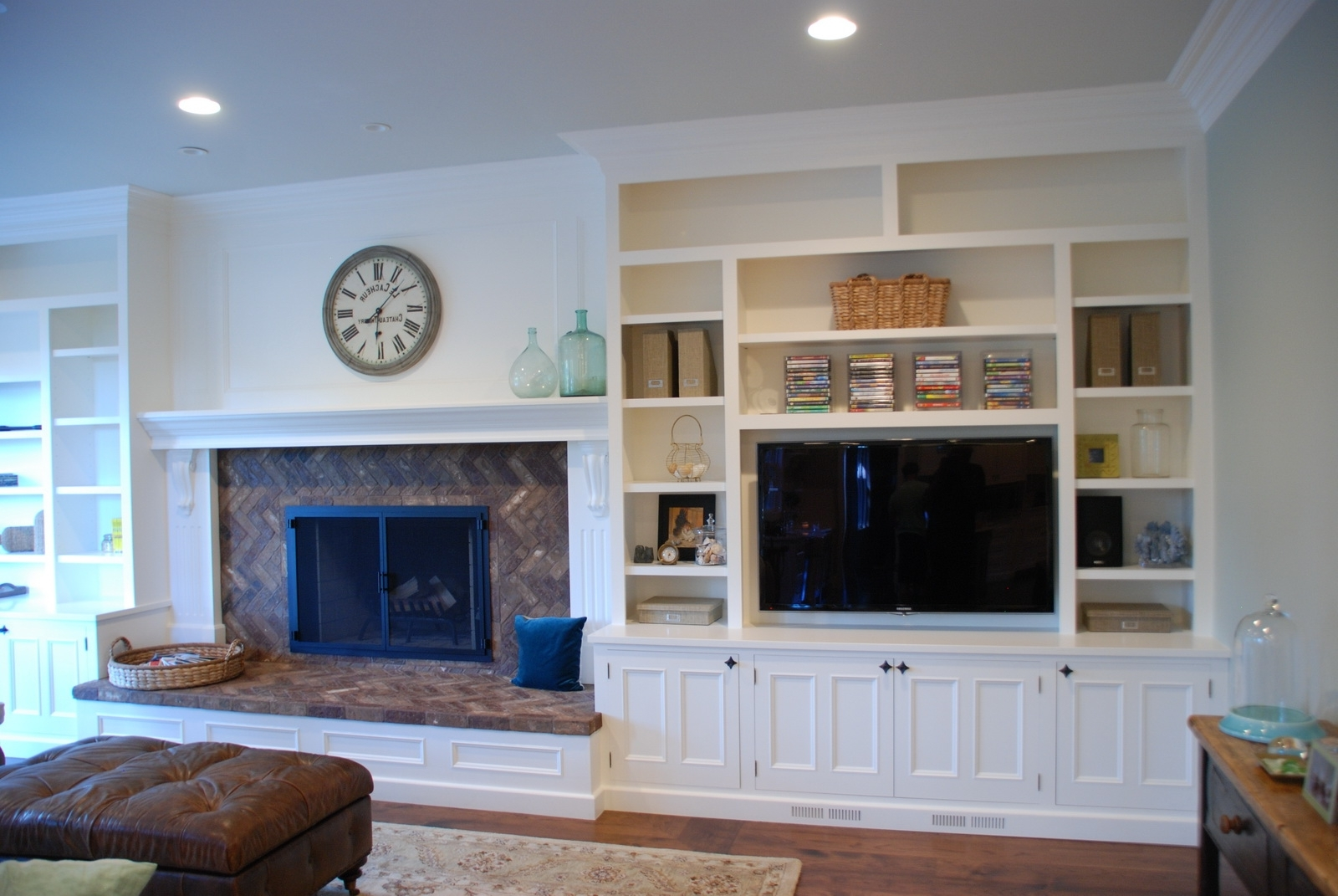 Widely Used Wall Units: Awesome Built In Bookshelves Around Tv Built In With Built In Bookshelves With Tv (View 13 of 15)
