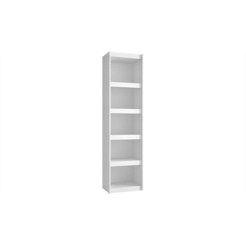 Widely Used White 5 Shelf Bookcases Pertaining To Manhattan Comfort Parana (View 9 of 15)