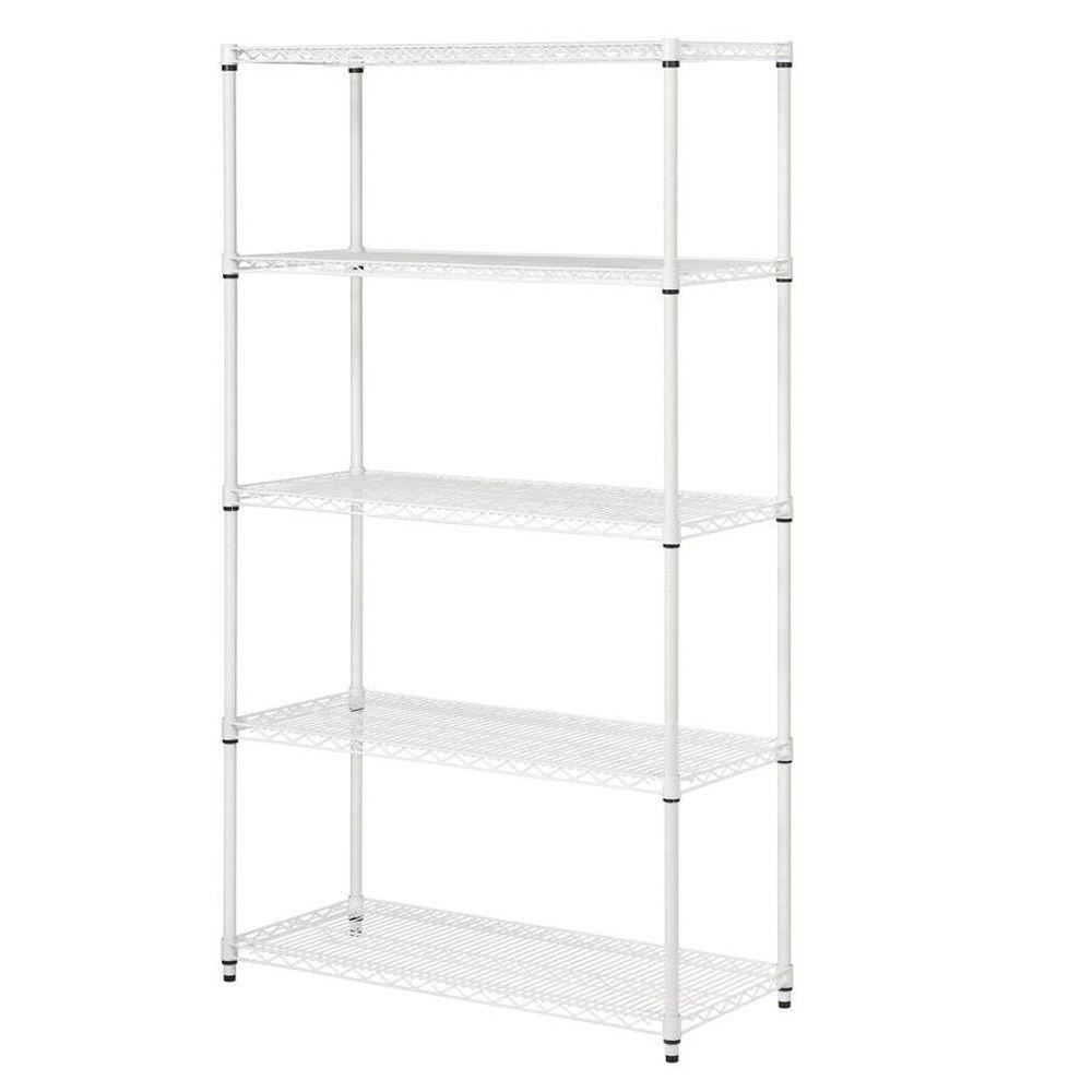 Widely Used White Shelving Units Throughout Honey Can Do 5 Shelf 72 In. H X 42 In. W X 18 In (View 14 of 15)