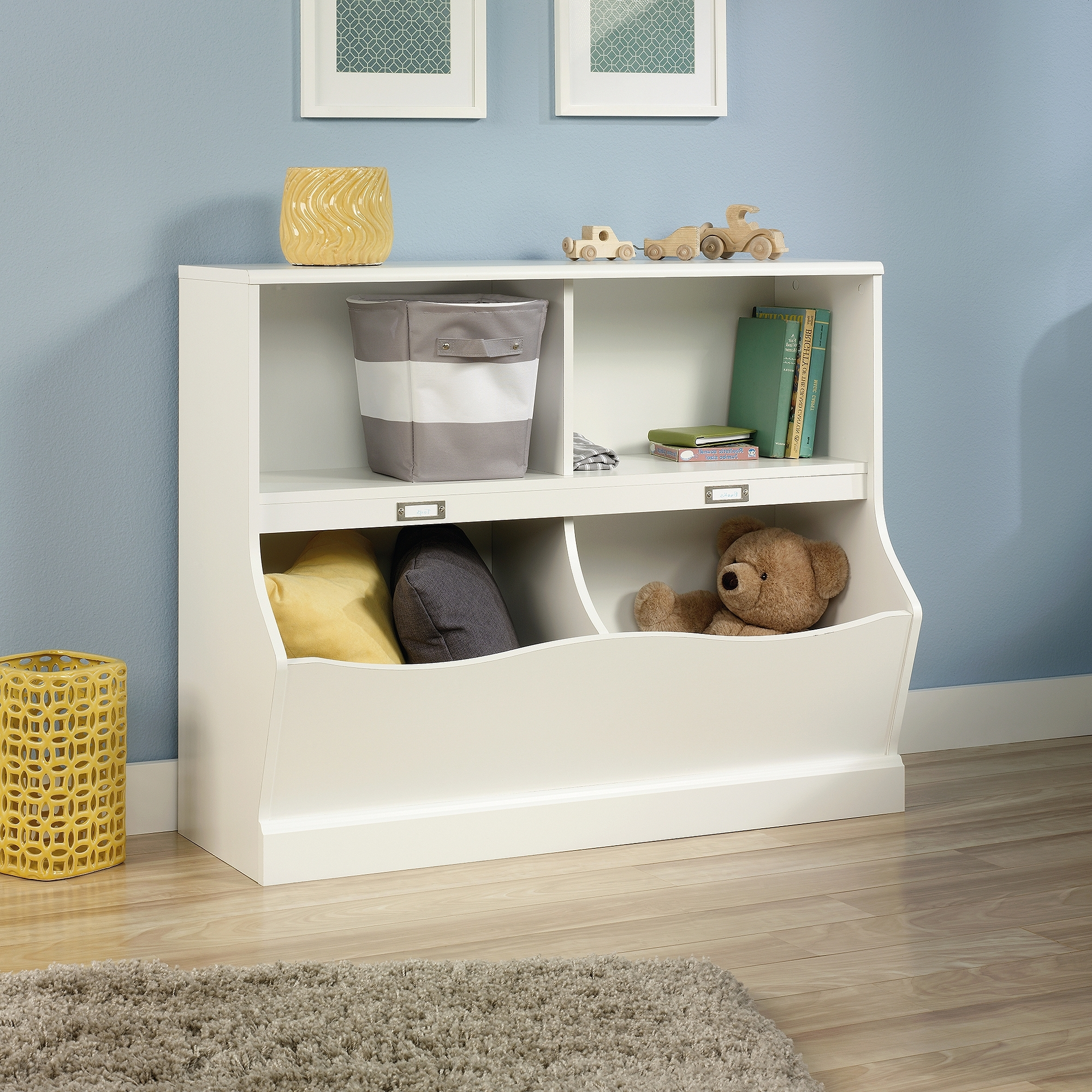 Widely Used White Walmart Bookcases In Sauder Storybook Storage Bin Bookcase, Soft White Finish – Walmart (View 6 of 15)