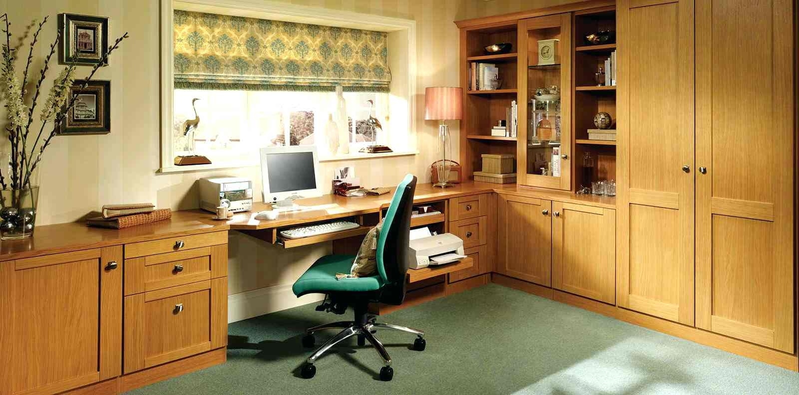 Wonderful Fitted Home Office Furniture In Mountain Oak Office Pertaining To Latest Fitted Home Office Furniture (View 15 of 15)