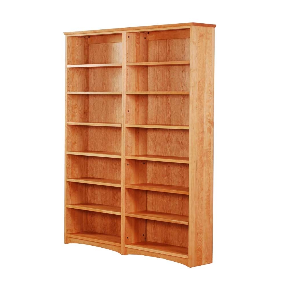 Wood Bookcases Pertaining To Favorite Double Bookcase (View 13 of 15)