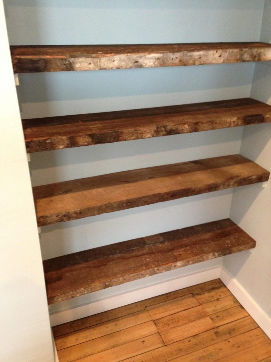 Wood For Shelves Inside 2018 Wonderful Wood Shelves For Garage Plans Wrought Iron Look Shelving (View 12 of 15)