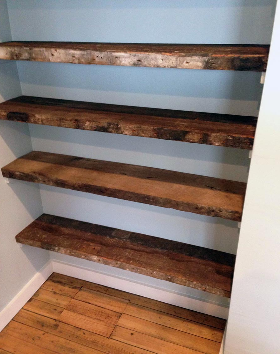 Wood For Shelves Within Well Liked 31 Magnificent Reclaimed Wood Shelves (View 15 of 15)