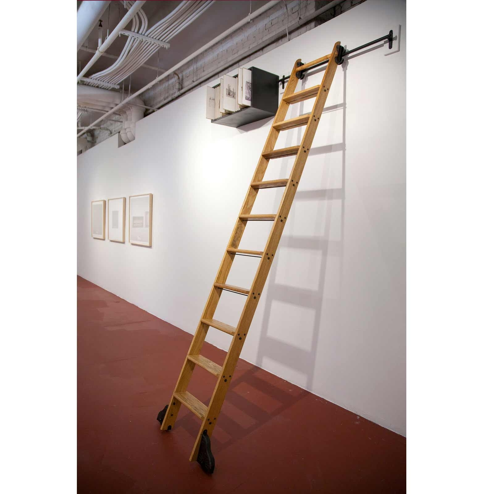 Wooden Library Ladders Intended For Current Stair Library Stairs Ladders Including Awesome Of Surprising (View 7 of 15)