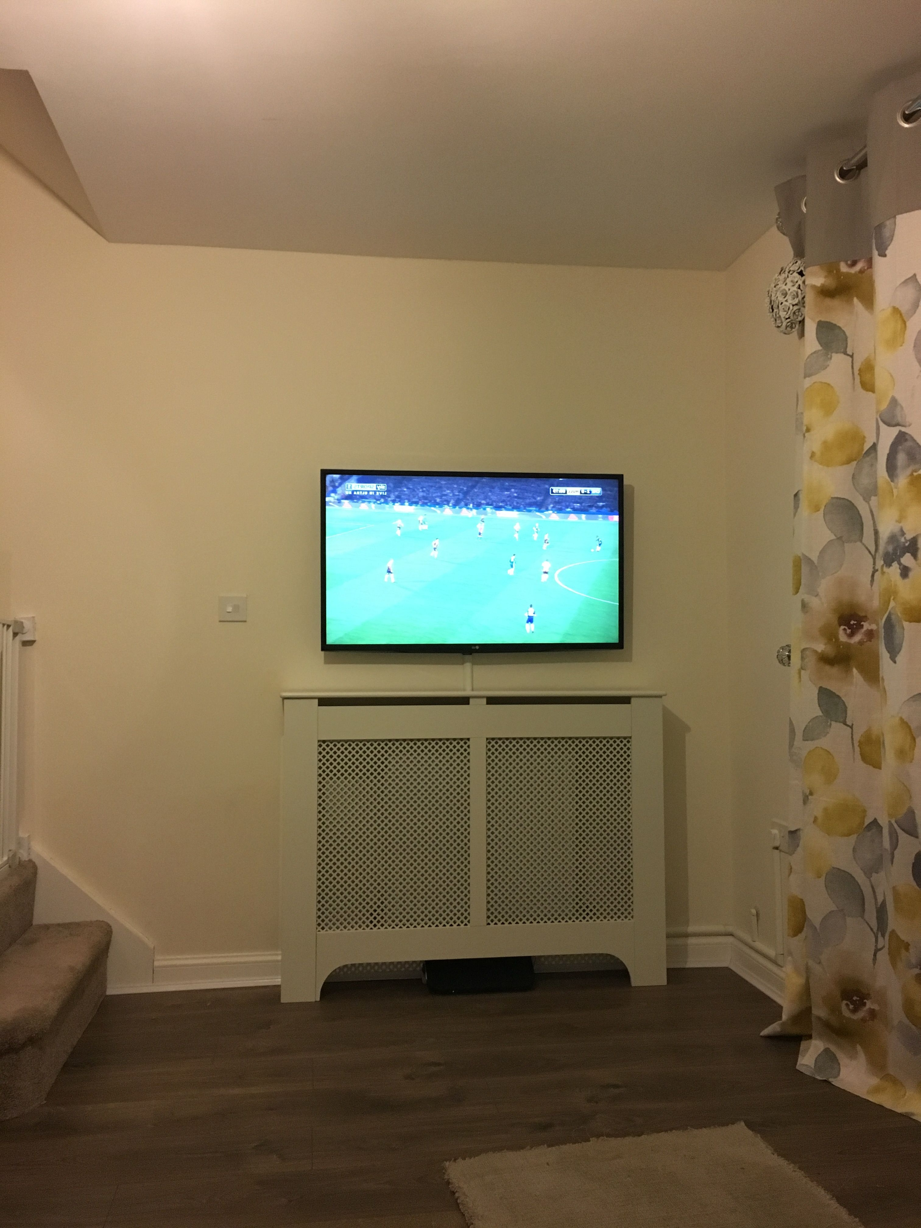 Work In Progress. My Wall Mounted Tv Above A Radiator (View 15 of 15)