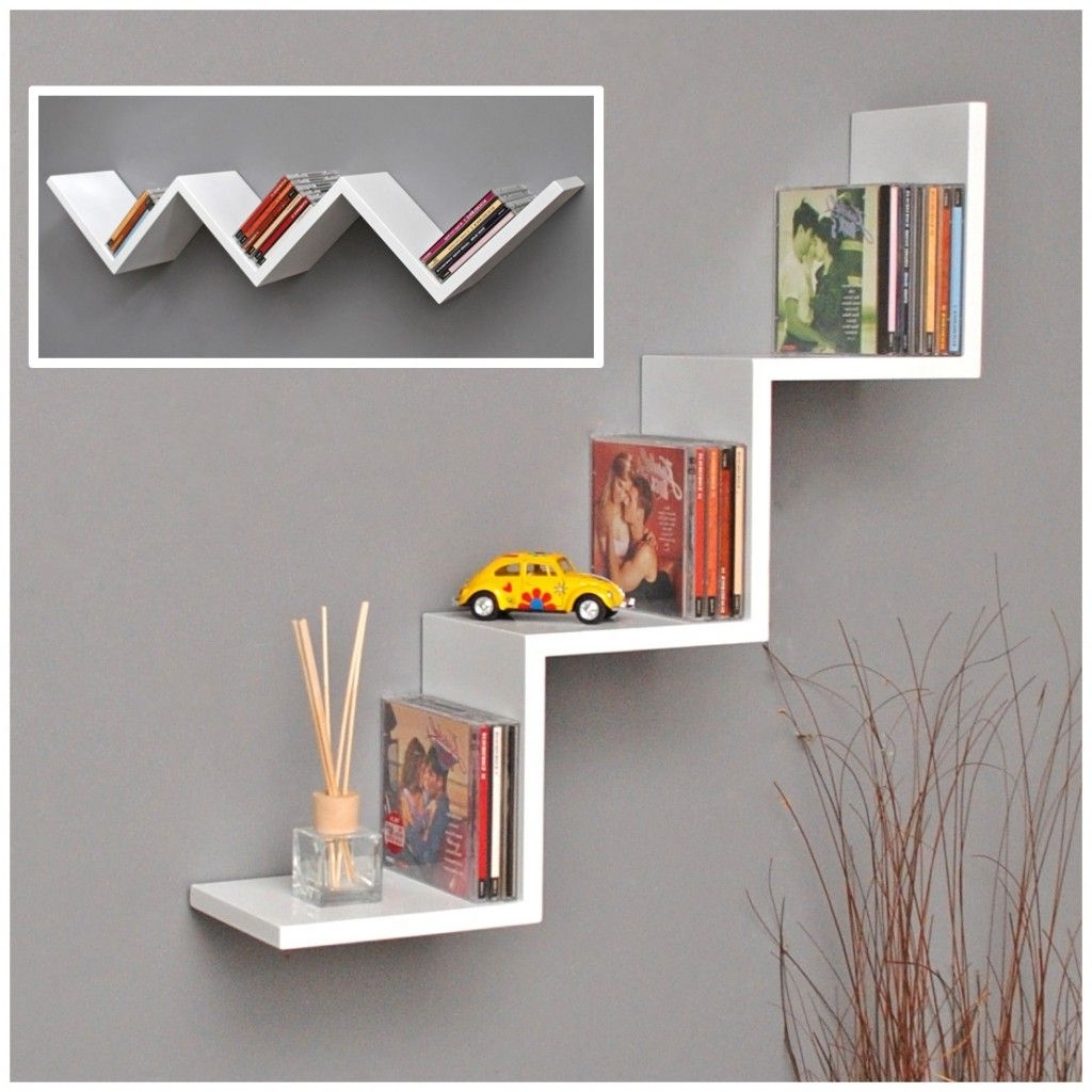 Zig Zag Bookcases Inside Well Liked 18 Zigzag Book Shelf Design Ideas (View 15 of 15)