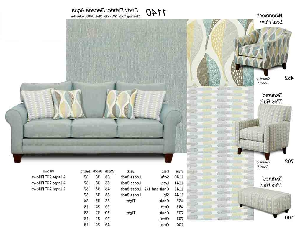 1140 Sofa W/ Accent Pillows U2013 Puritan Furniture Ct Regarding 2017 Aqua  Sofas (Gallery
