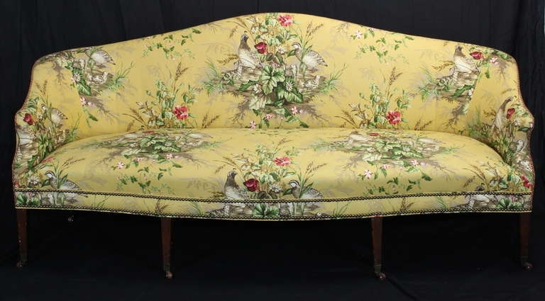 19Th Century Federal Sofa At 1Stdibs For Popular Yellow Chintz Sofas (Gallery 2 of 10)