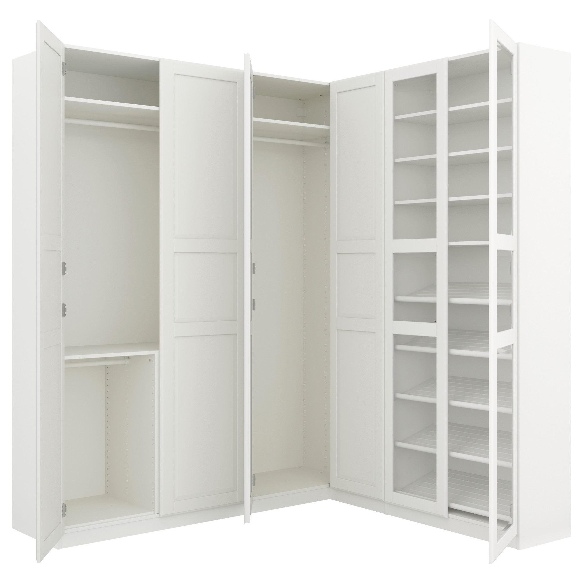 "2 Door Corner Wardrobes For Well Known Pax Corner Wardrobe – 82 3/4/73 7/8X93 1/8 "" – Ikea (View 2 of 15)"