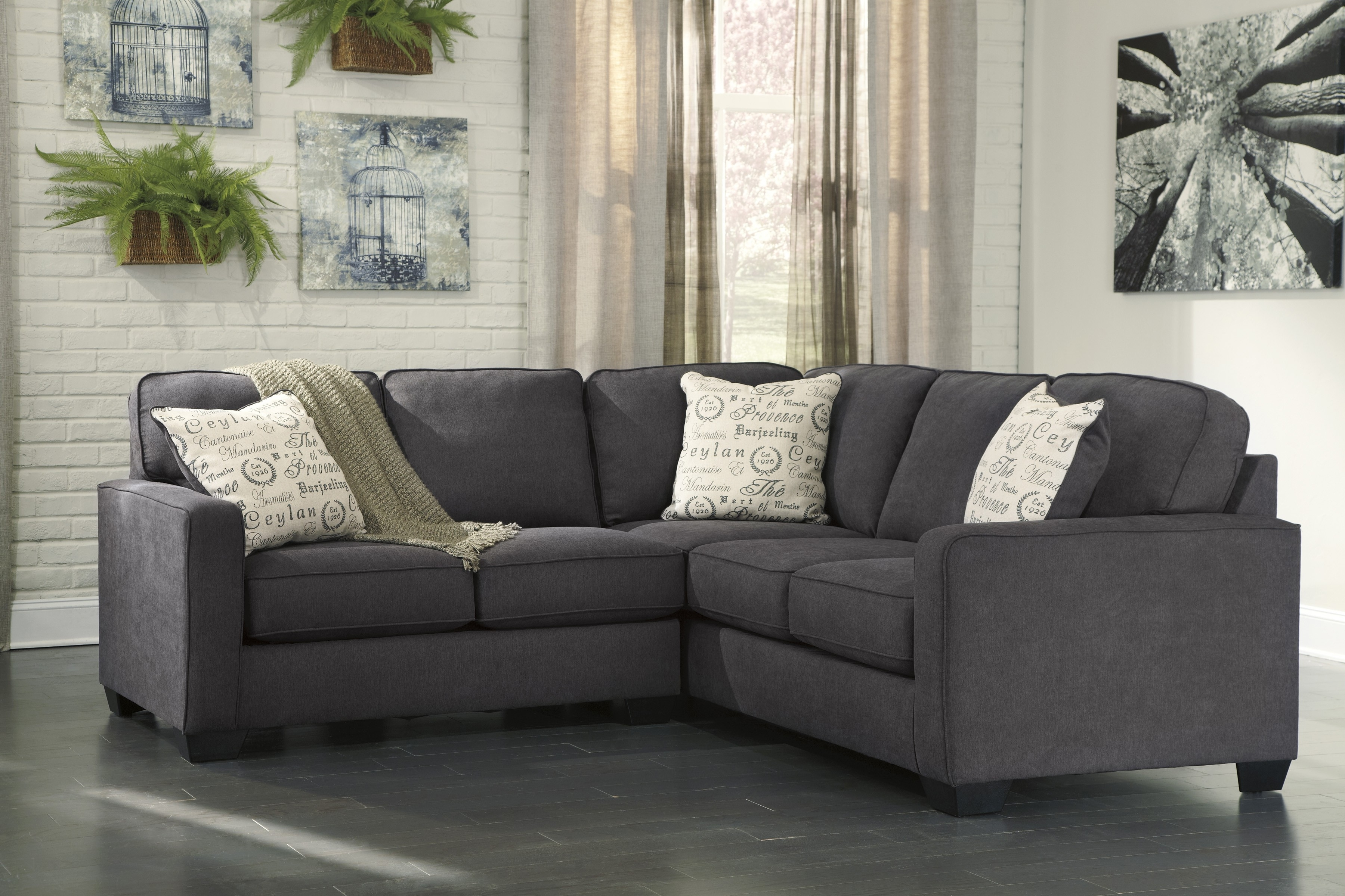 2 Piece Sectional Sofas With Chaise Intended For 2018 Alenya Charcoal 2 Piece Sectional Sofa For $ (View 10 of 15)