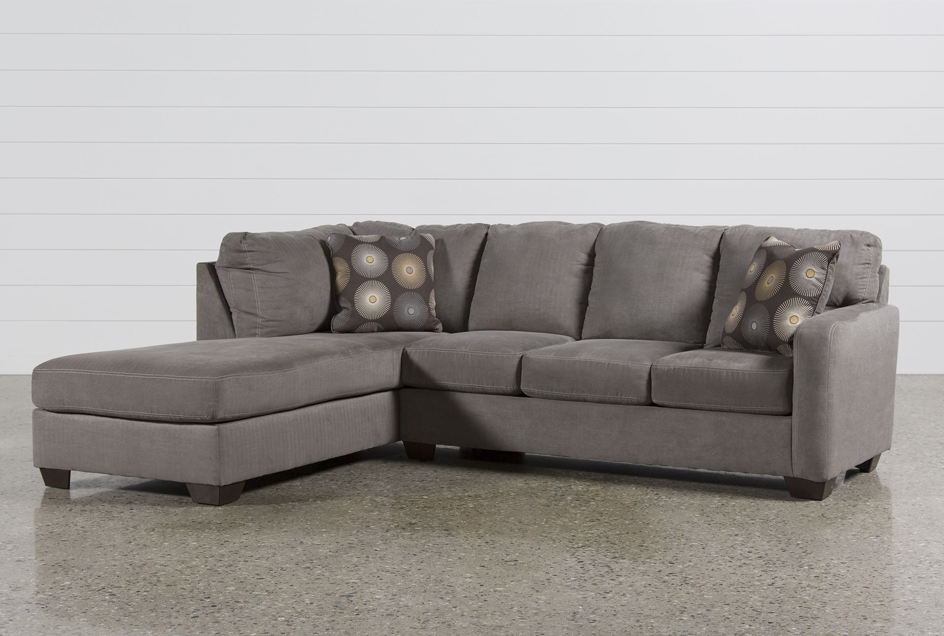 Delightful 2 Piece Sectional Sofas With Chaise Within Fashionable Best 2 Piece  Sectional Sofa 23 For Your