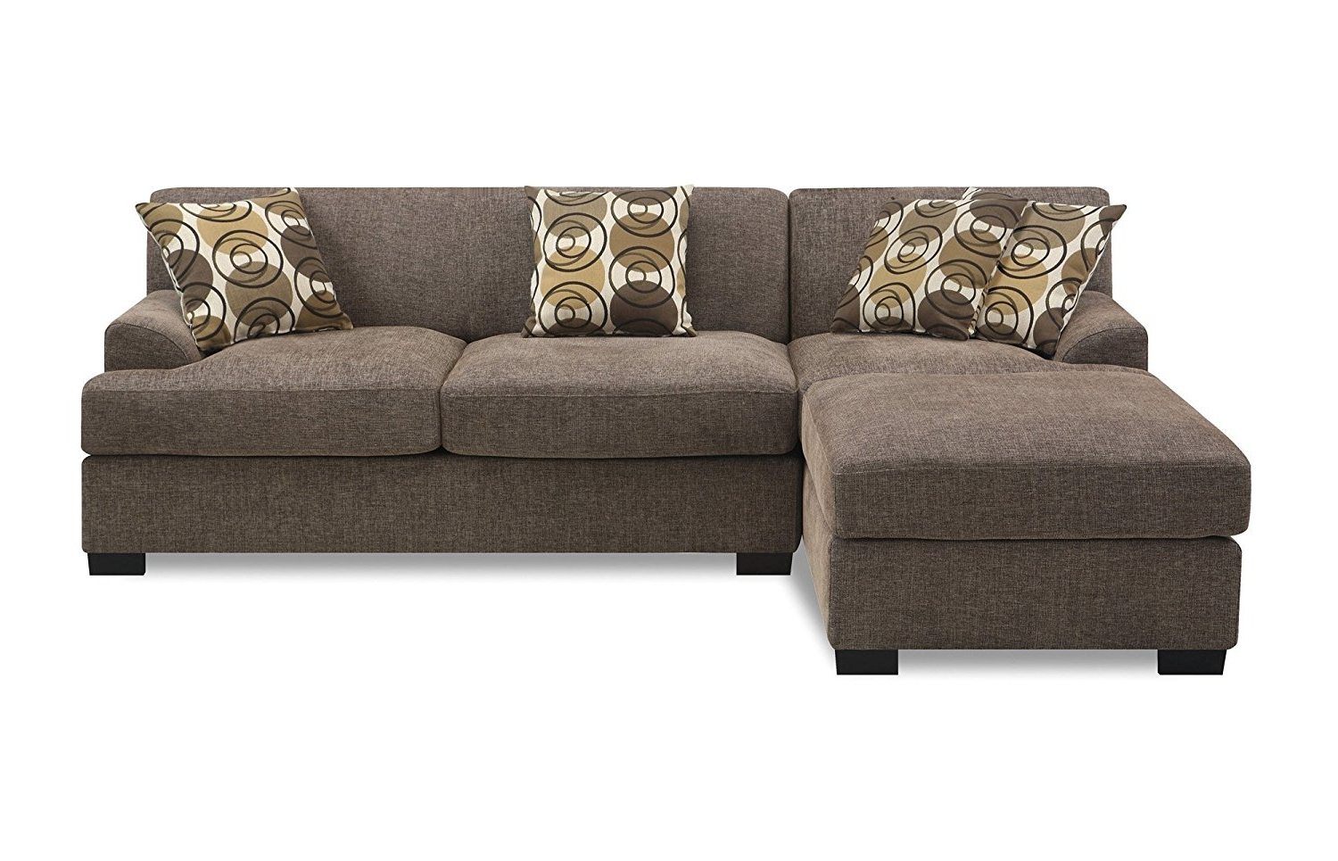 2 Piece Sectionals With Chaise In Most Up To Date Amazon: Poundex Montereal 2 Piece Chaise Love Sectional (View 14 of 15)