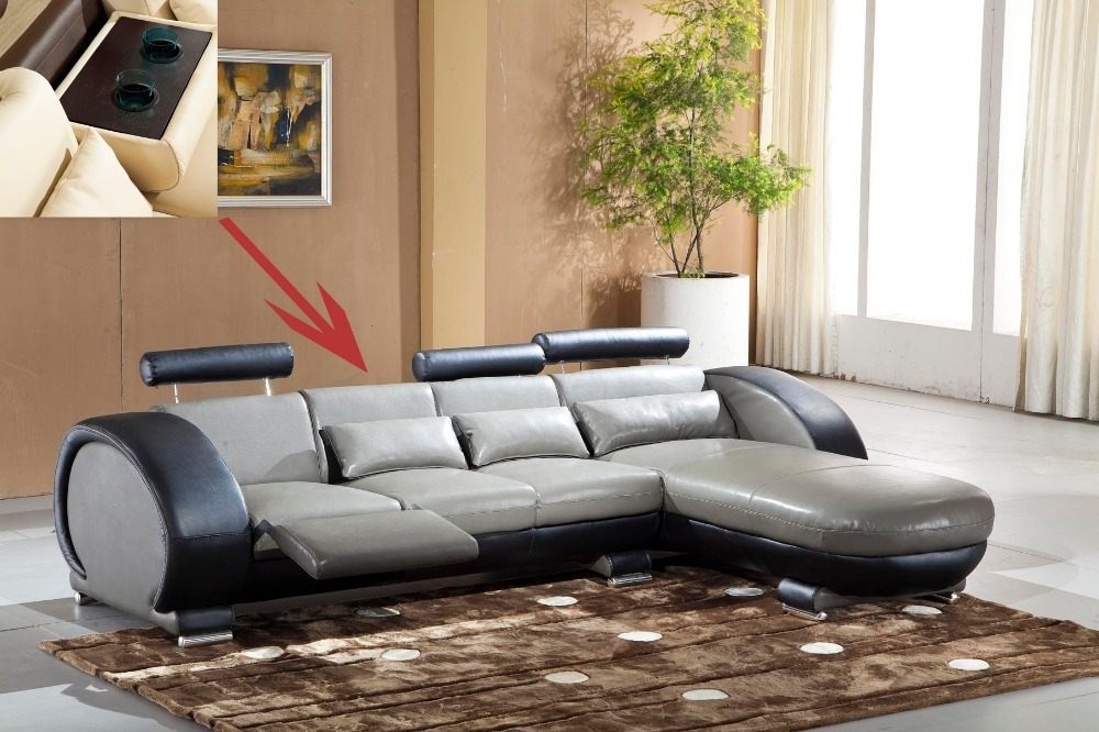2015 Recliner Leather Sofa Set Living Room Sofa Set With Reclining Intended For Trendy Recliner Sofas (View 7 of 10)