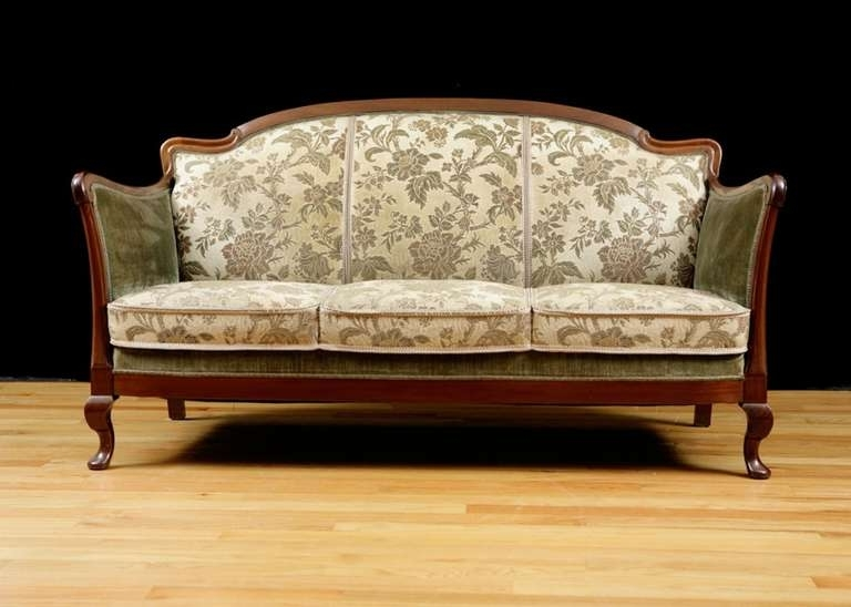 2017 1930S Sofas Within Post Art Deco Upholstered Sofa Frame In Cuban Mahogany, Circa  (View 7 of 15)
