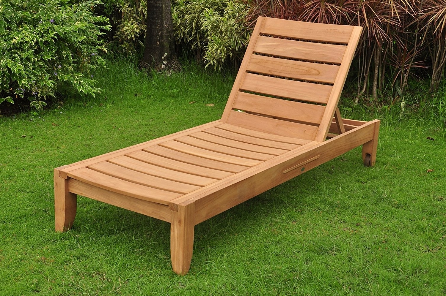 2017 Amazon : New Grade A Teak Multi Position Sun Chaise Lounger With Regard To Teak Chaise Lounges (View 5 of 15)
