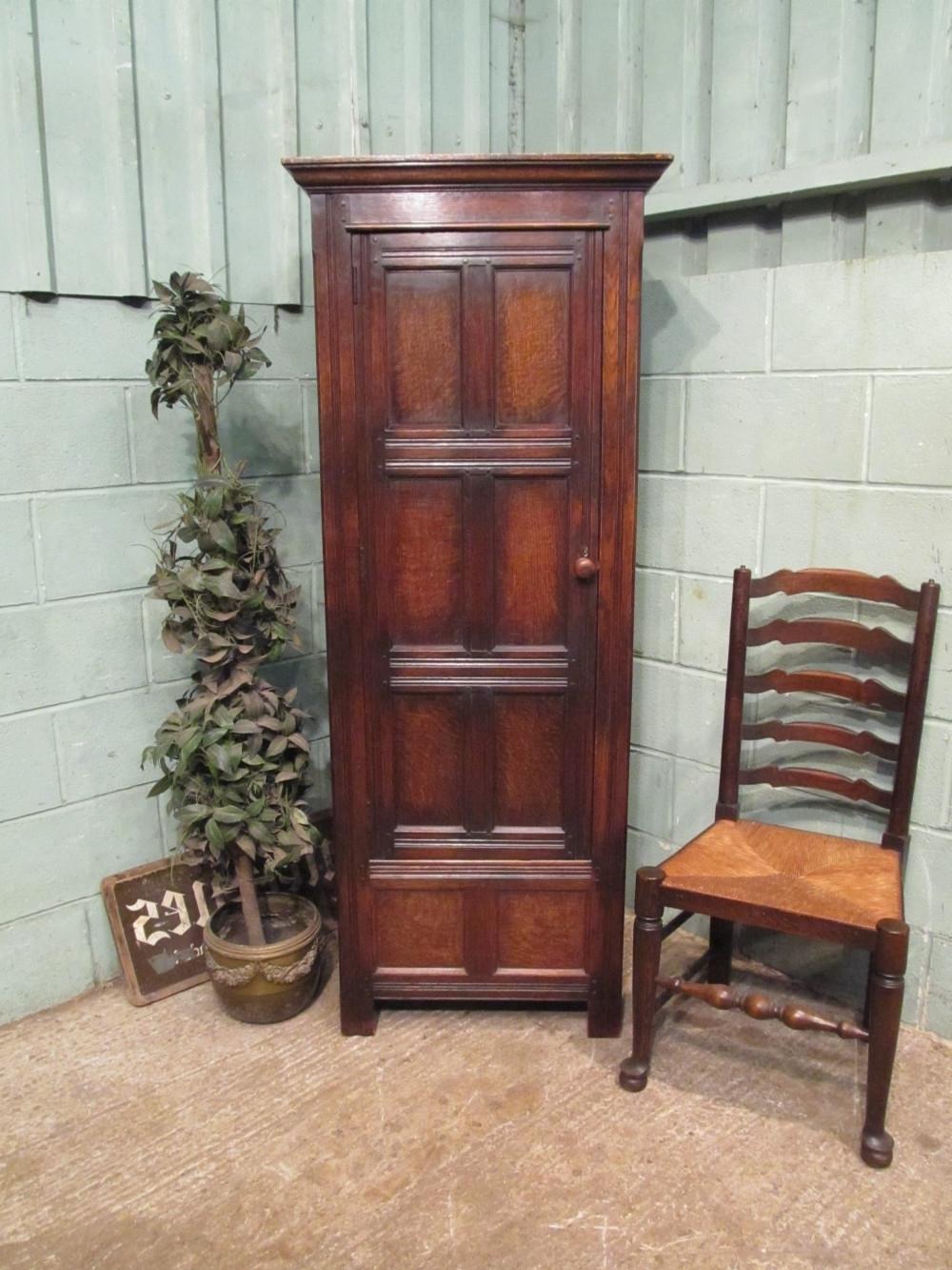2017 Antique Oak Narrow Single Wardrobe C1920 (Gallery 1 of 15)