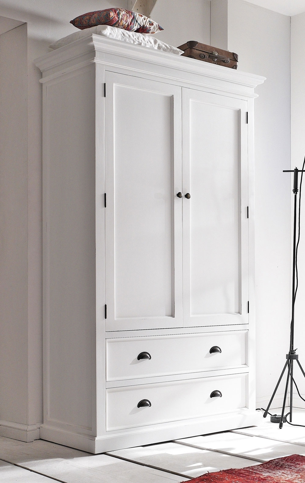 2017 Antique White Wardrobes With 13 Vintage Closet Sets For Your Secret Fashionable Sanctuary (View 15 of 15)