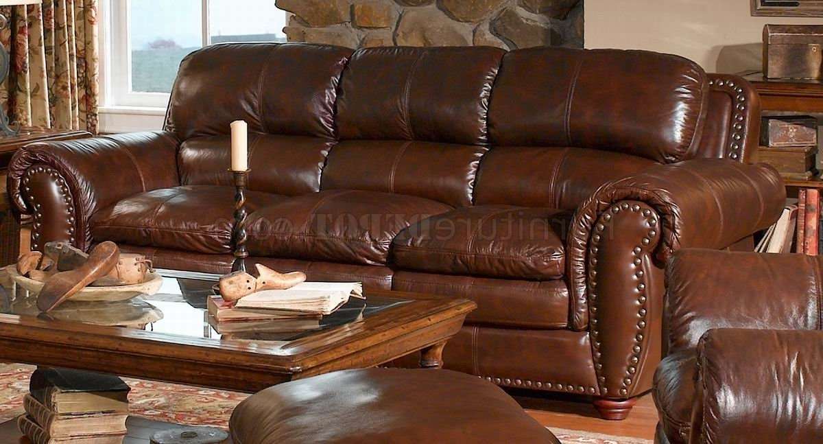 2017 Aspen Leather Sofas Throughout Italia Aspen Brown Sofa & Loveseat Set W/options (View 2 of 10)