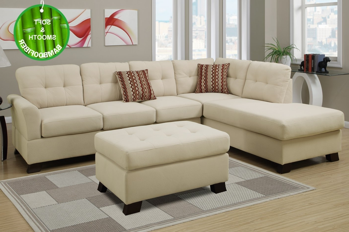 2017 Beige Sectionals With Chaise Within Sectional Sofa Design: Amazing Beige Sectional Sofas Beige Leather (View 2 of 15)