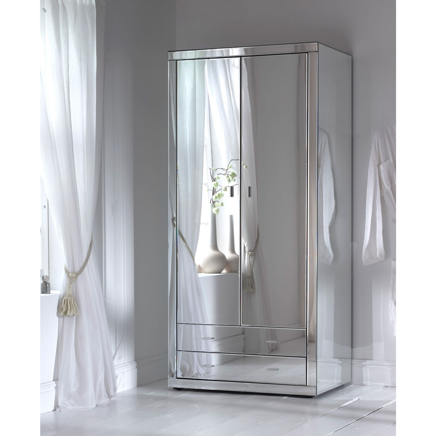 2017 Bergen Wardrobe White With Mirror Doors Ebay Ikea 3 Door You Will Within Cheap Wardrobes With Mirror (View 5 of 15)