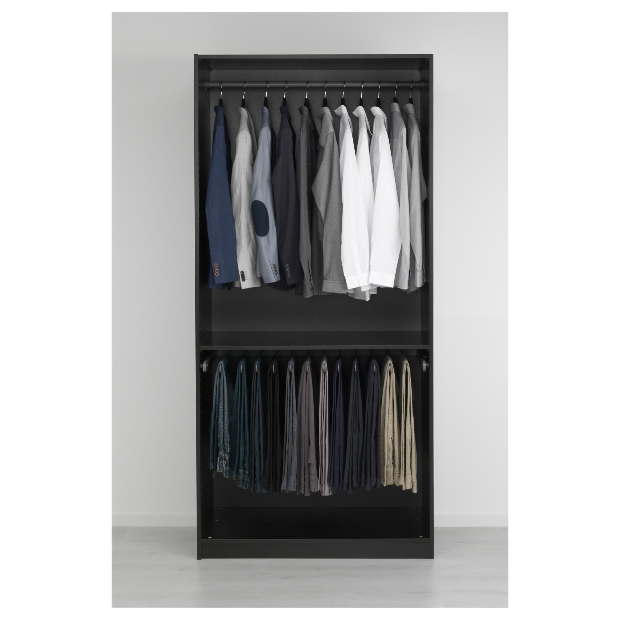 2017 Black Glass Wardrobes For Pax Wardrobe Black Brown/vikedal Mirror Glass 100X60X201 Cm – Ikea (View 1 of 15)