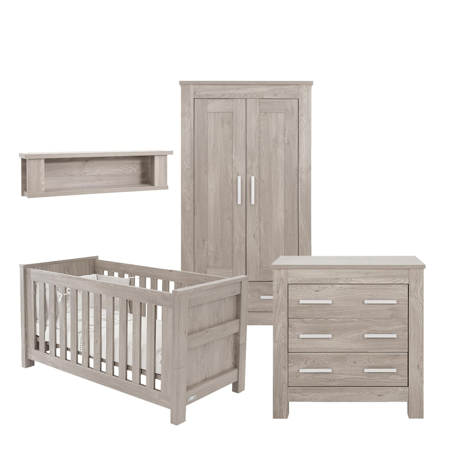 2017 Bordeaux Wardrobes Throughout Babystyle Bordeaux Ash 4 Piece Furniture Set Cotbed Wardrobe (View 1 of 15)